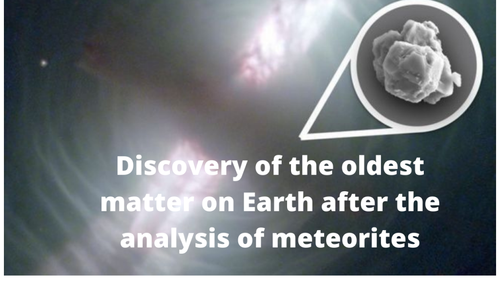 Discovery of the oldest matter on Earth